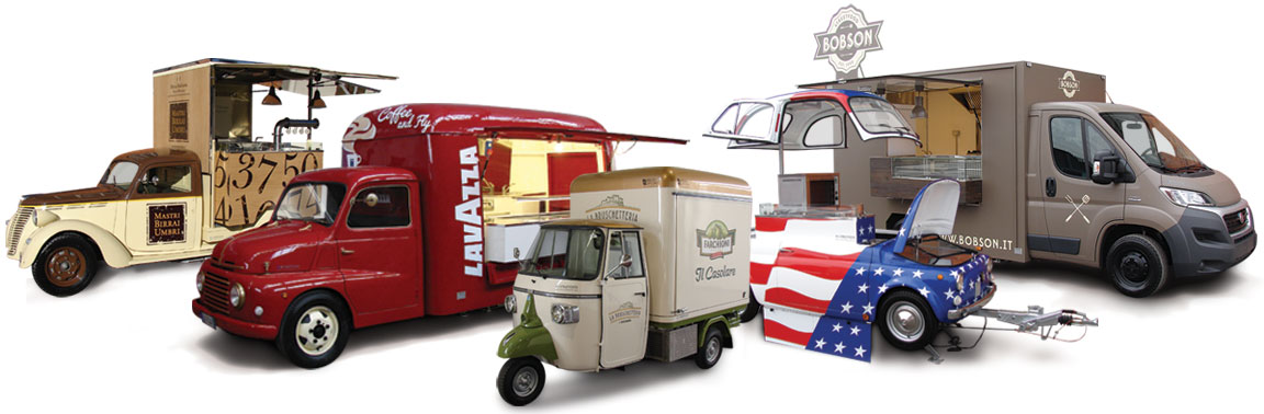 Customised food trucks, street trade vans and trailers