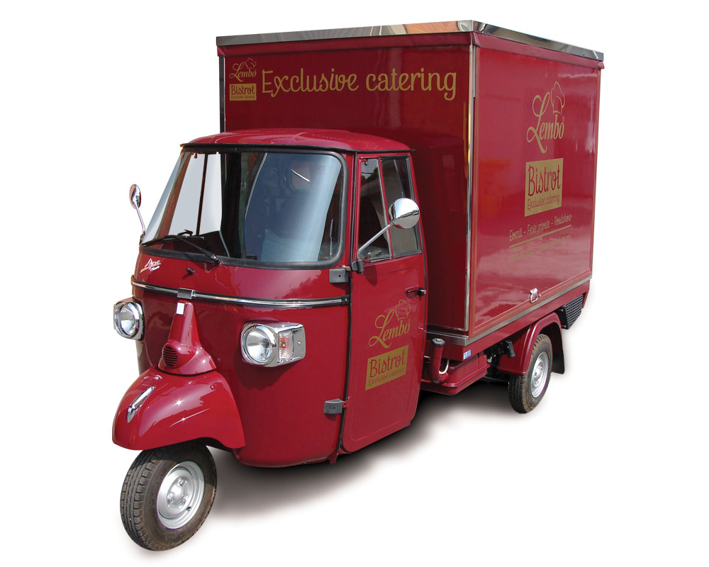 Lembo Bistrot is a Piaggio Apecar for street food vending