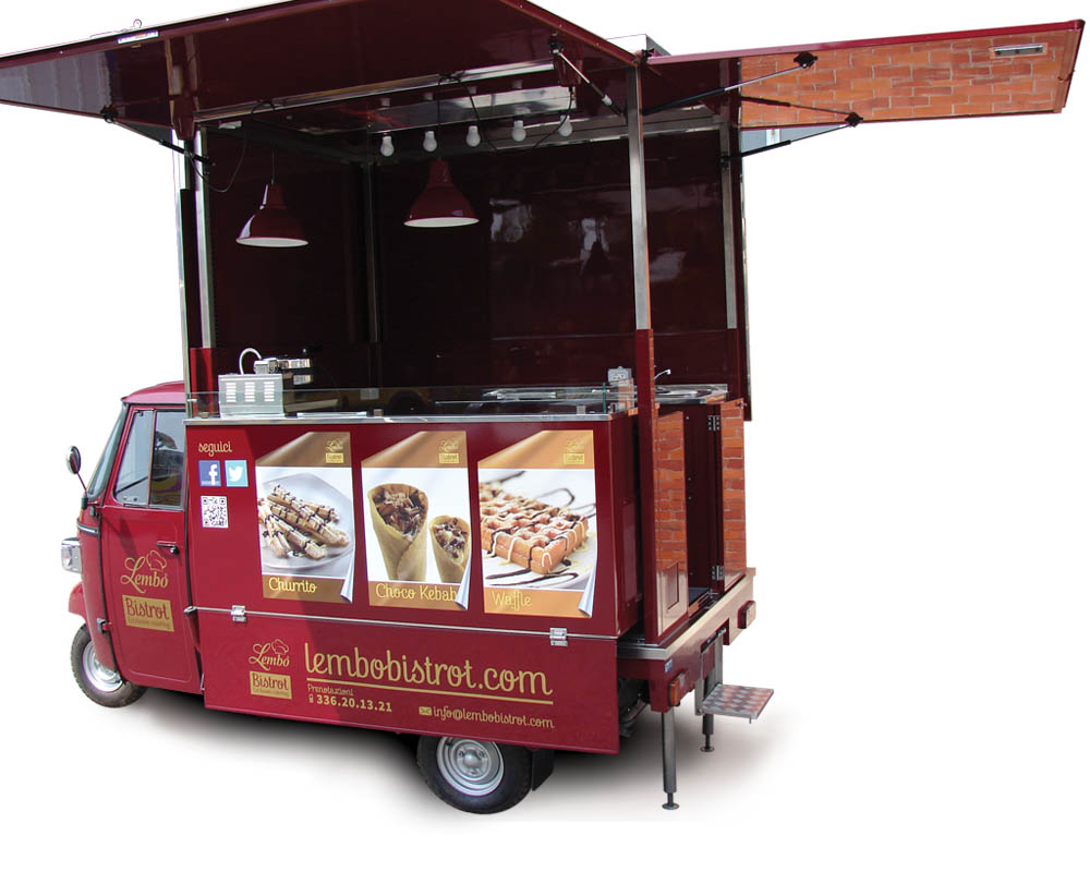food truck catering ape car lembo bistrot. Black Bedroom Furniture Sets. Home Design Ideas
