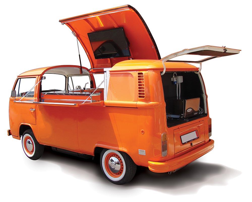 vw bus food truck volkswagen t2. Black Bedroom Furniture Sets. Home Design Ideas