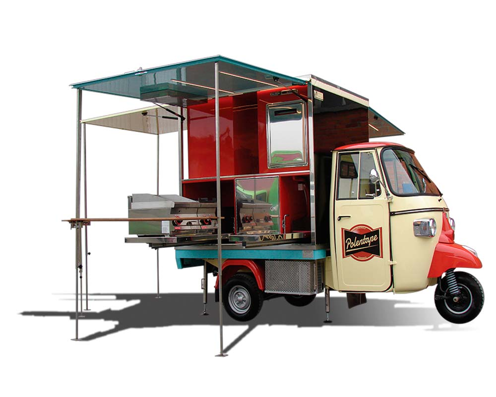 piaggio ape car lunch truck polentape. Black Bedroom Furniture Sets. Home Design Ideas