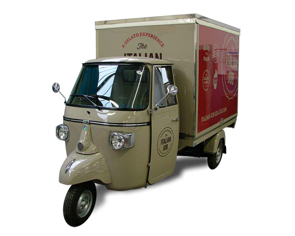 ape food truck italian job
