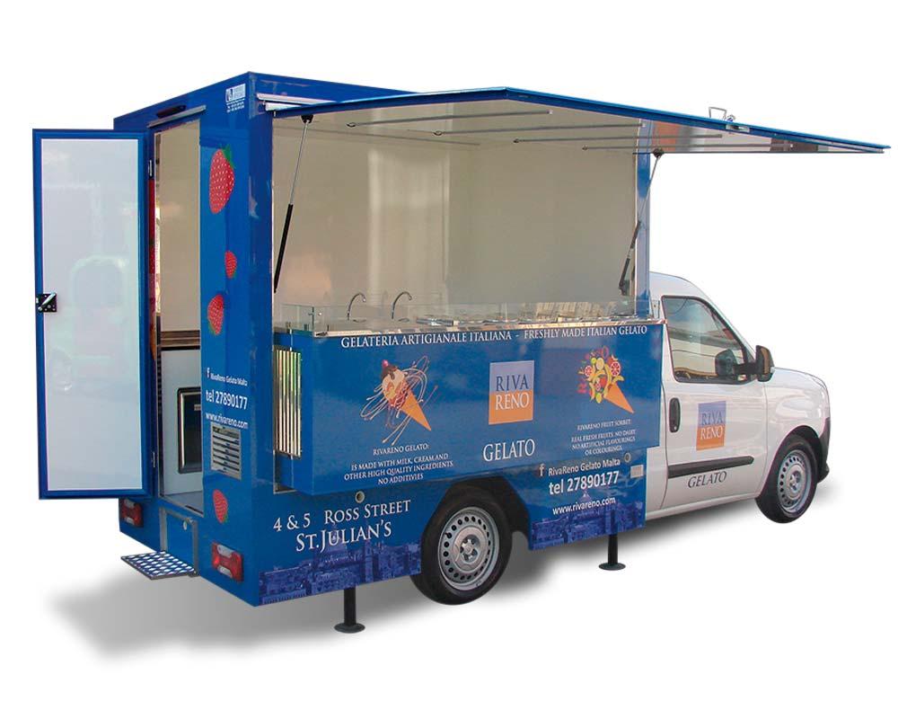 Doblò Fiat Gelateria Ambulante Rivareno - Food Truck di VS Veicoli Speciali