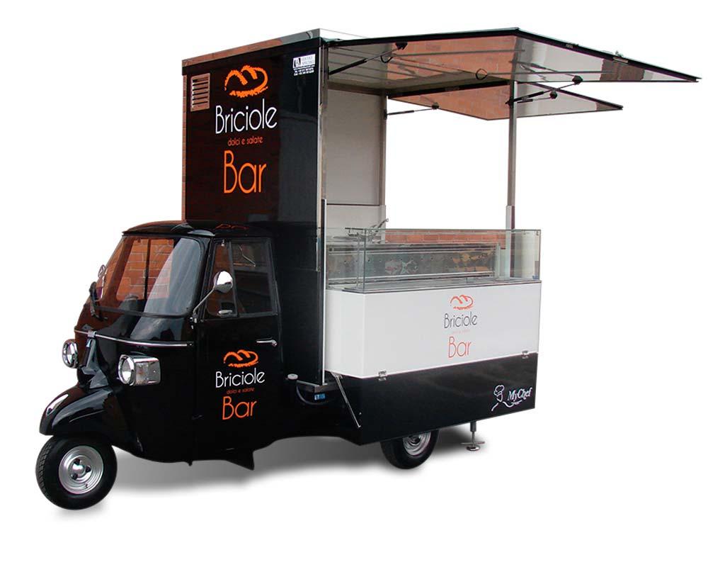 Ape bar briciole for Food truck bar le duc