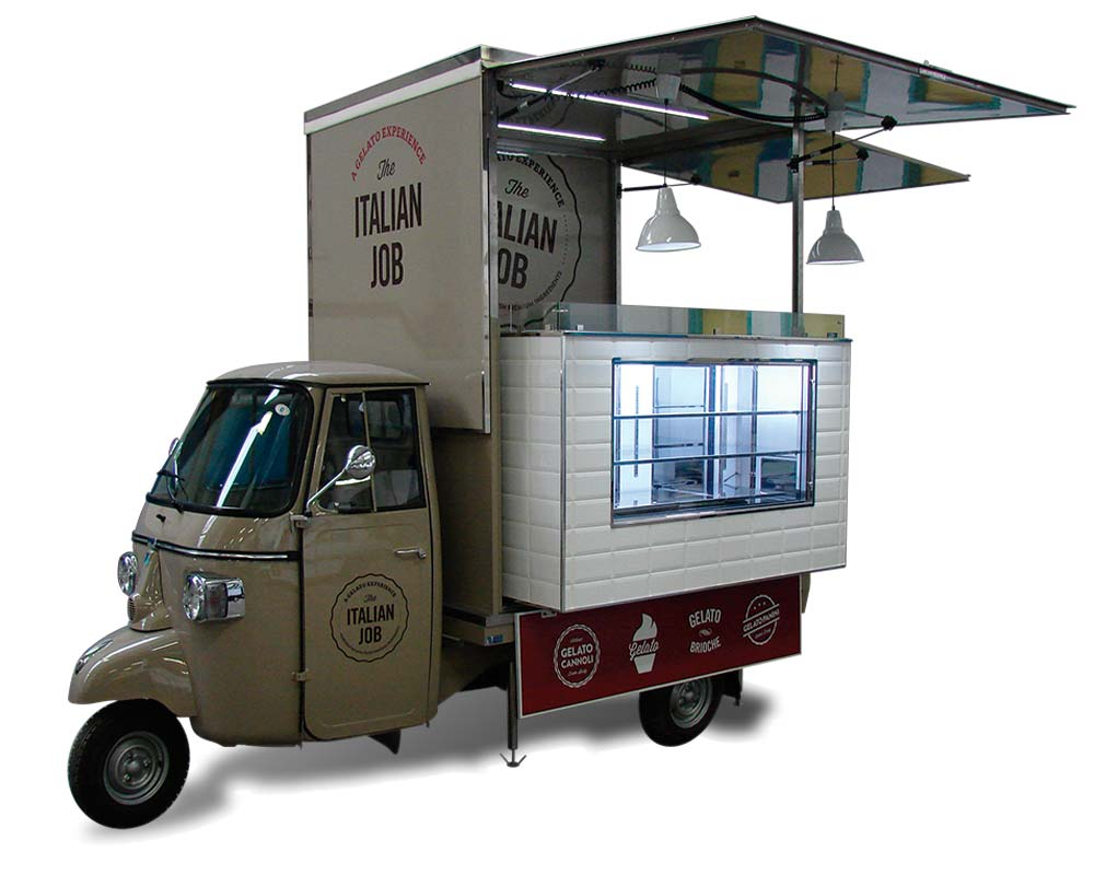 ice cream van piaggio italian job miami. Black Bedroom Furniture Sets. Home Design Ideas