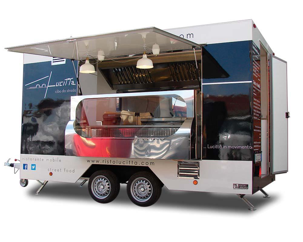 veicolo food truck ristorante mobile