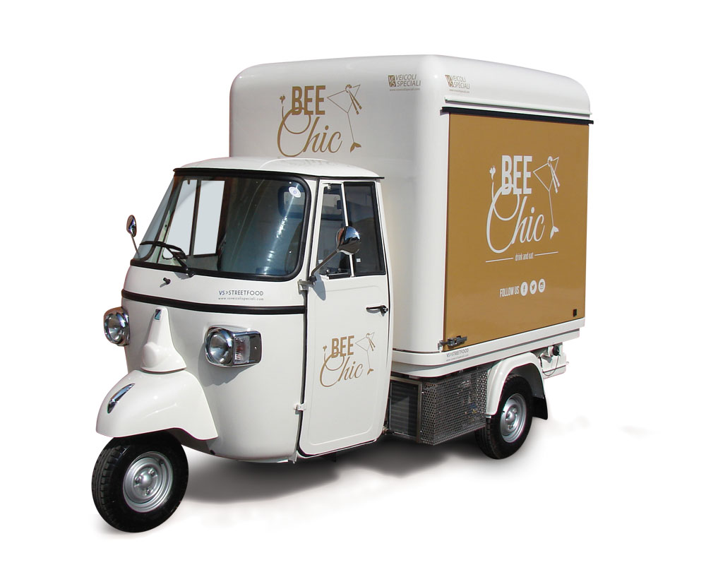 Street food truck trailer van ape car promo vehicle - Cuisine mobile occasion ...