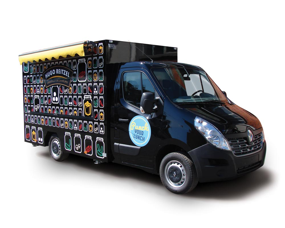 "Renault Master ""Hugo Reitzel"" is a promo truck to promote food products"