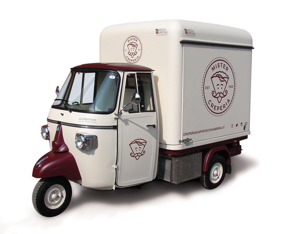 Mister Creperia is an Ape van designed to make and sell Coffee and Crepes