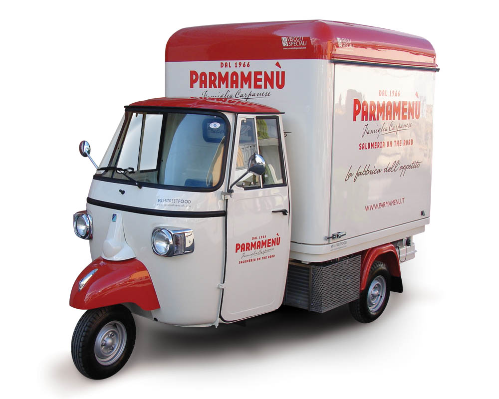 Food Vending Apecar | 3 Wheeled Vehicle | Parma Menù