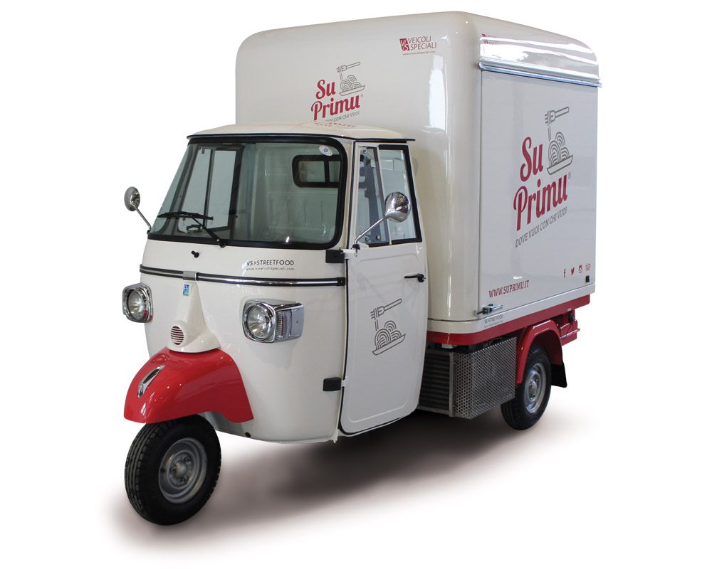 Ape piaggio SuPrimu is a mobile shop sold in Sardinia