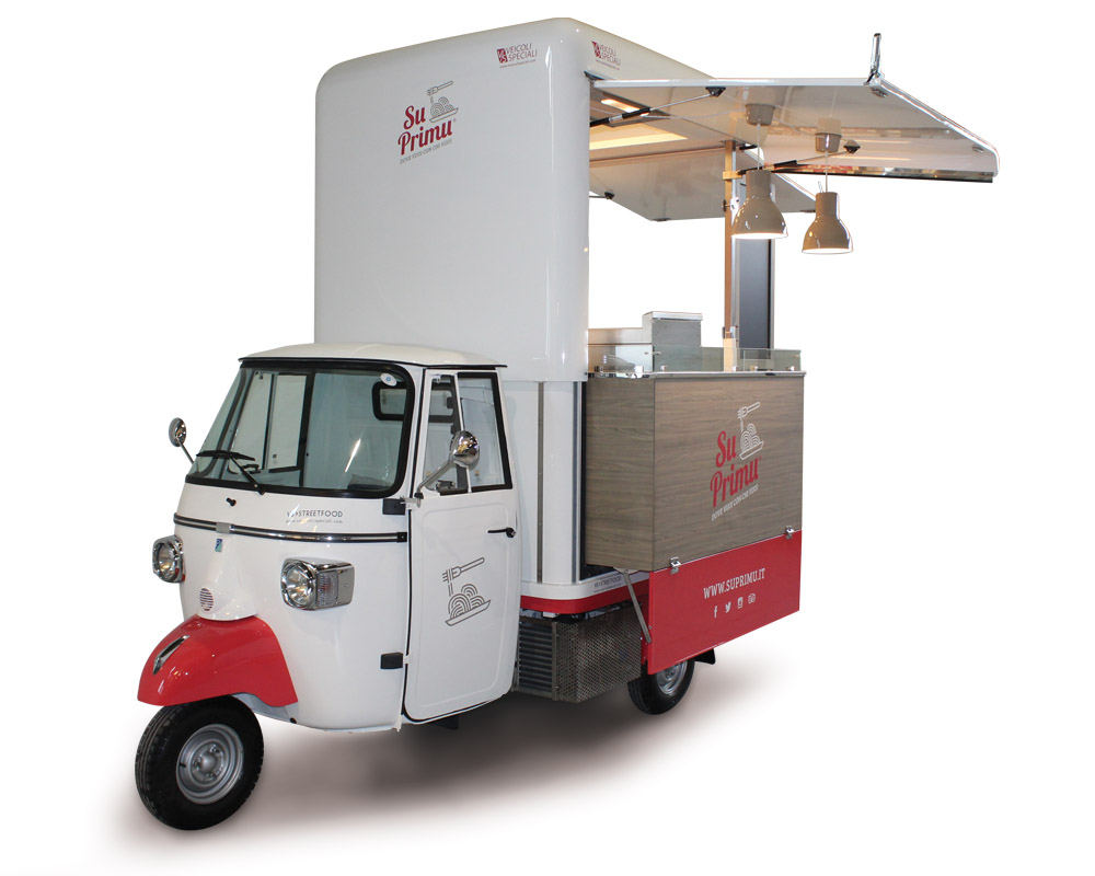 Piaggio van for selling food and beverages