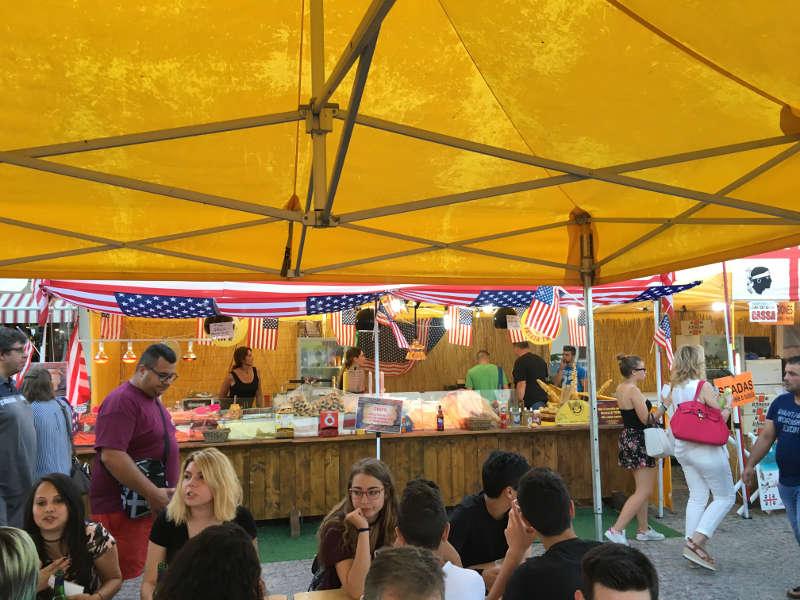 gazebo tendone per vendita prodotti alimentari in fiere ed eventi