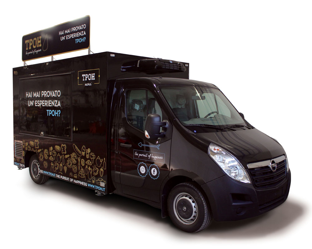 Opel Movano Food Truck for vending italian piadina