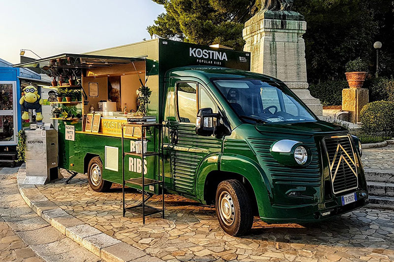citroen h new vintage food truck with food catering service