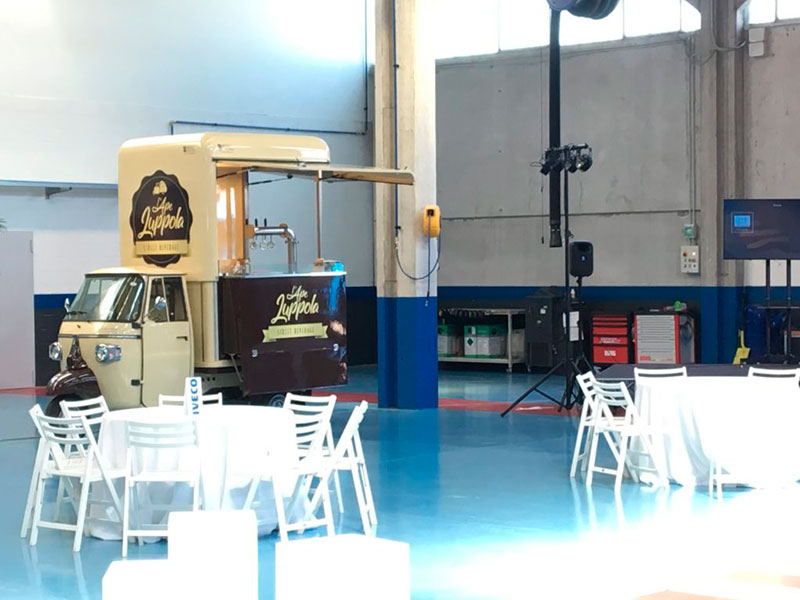luppola beer mini truck with integrated tap system for vending in streets and events