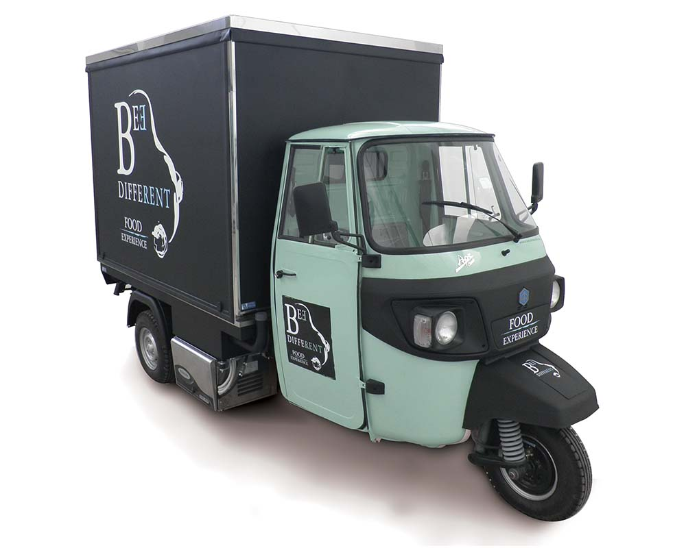 Food catering service Piaggio Ape Car Bee Different