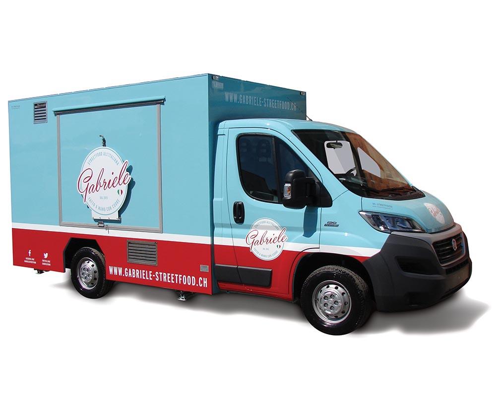 Ducato Food Truck for vending italian delicacies in Switzerland