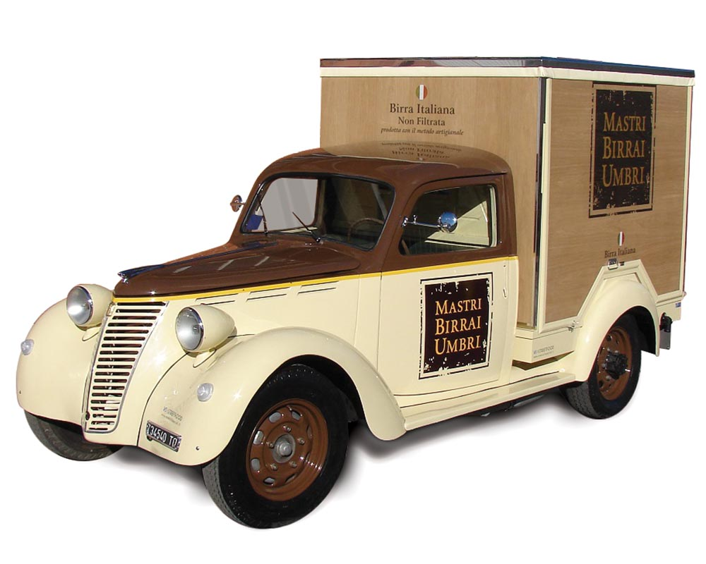 Fiat 1100 Musone converted in Food Truck for the brewery Mastri Birrai Umbri