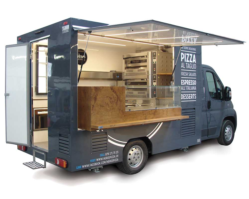 Ducato Food van with owen and kitchen to sell pizza and italian food