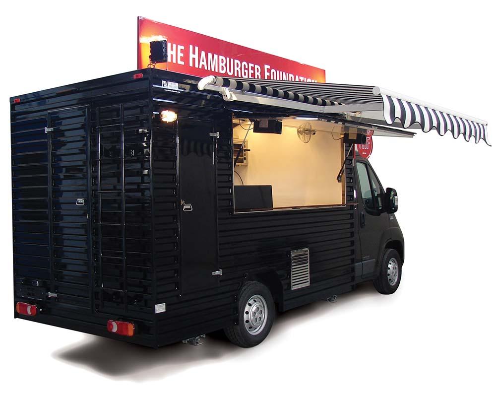Fiat Ducato food van for vending hamburgers in switzerland