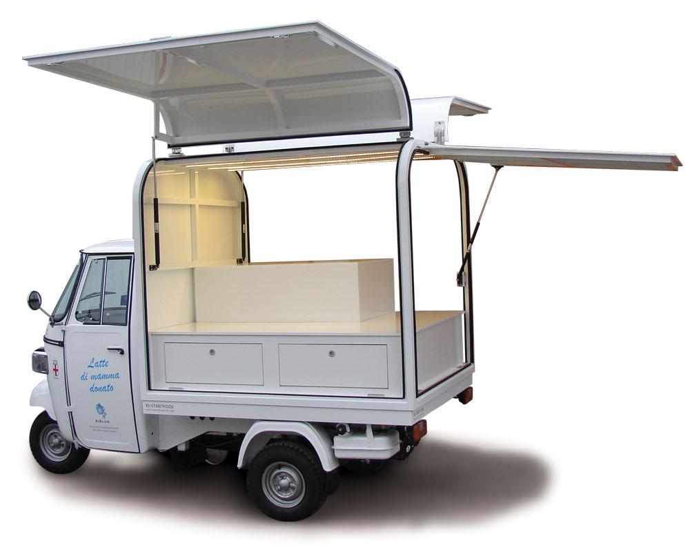 Promo truck for Mamige association built on Ape van