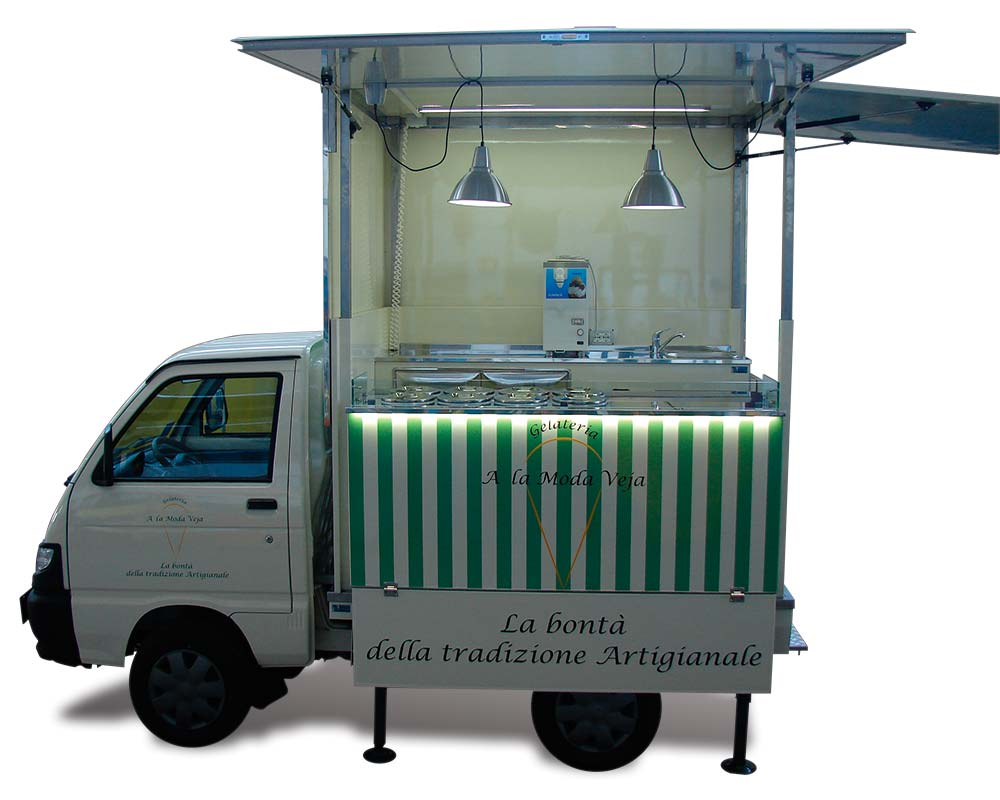 allestimento street food gelateria piaggio