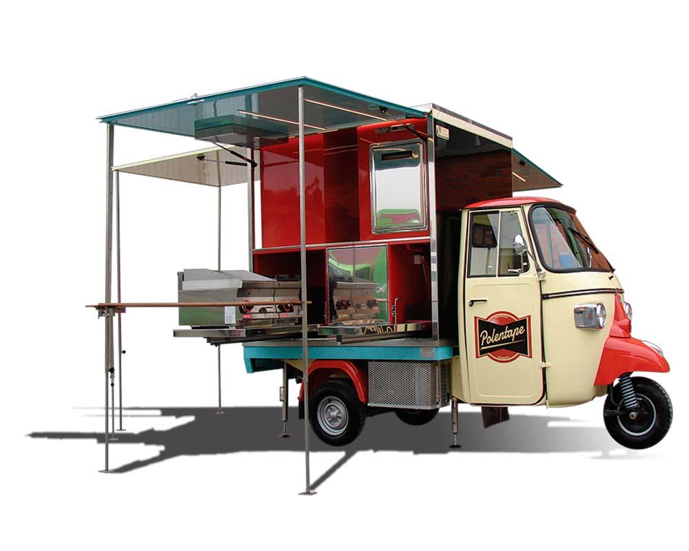 ape food truck con allestimento ristorazione per commercio ambulante