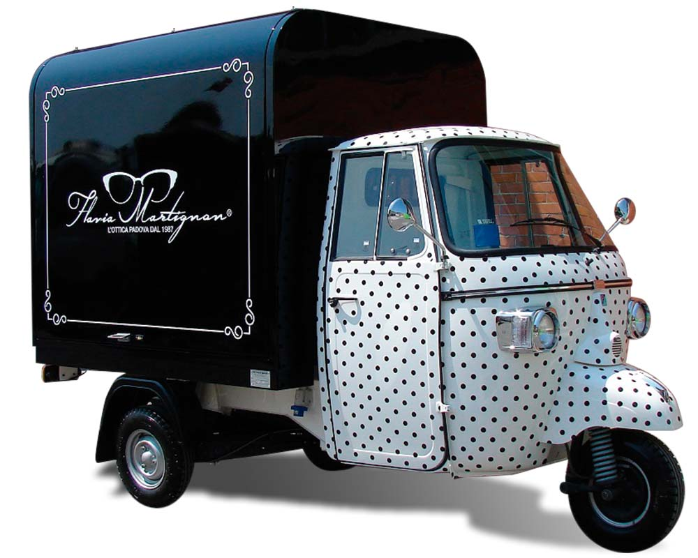 Promo truck for promotional purpose - Martignon shop in Padua