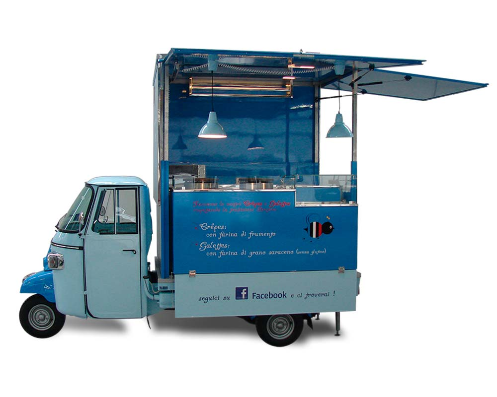food truck piaggio ape crepes - L'Abeille Gourmande