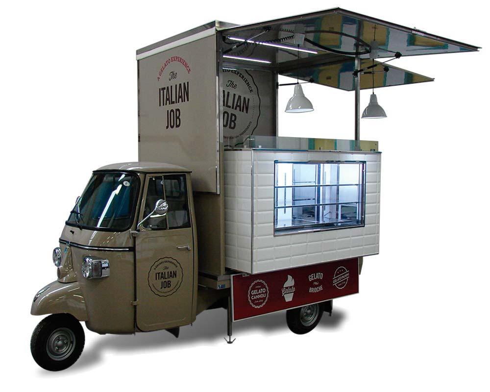 food truck piaggio per vendita gelato a miami