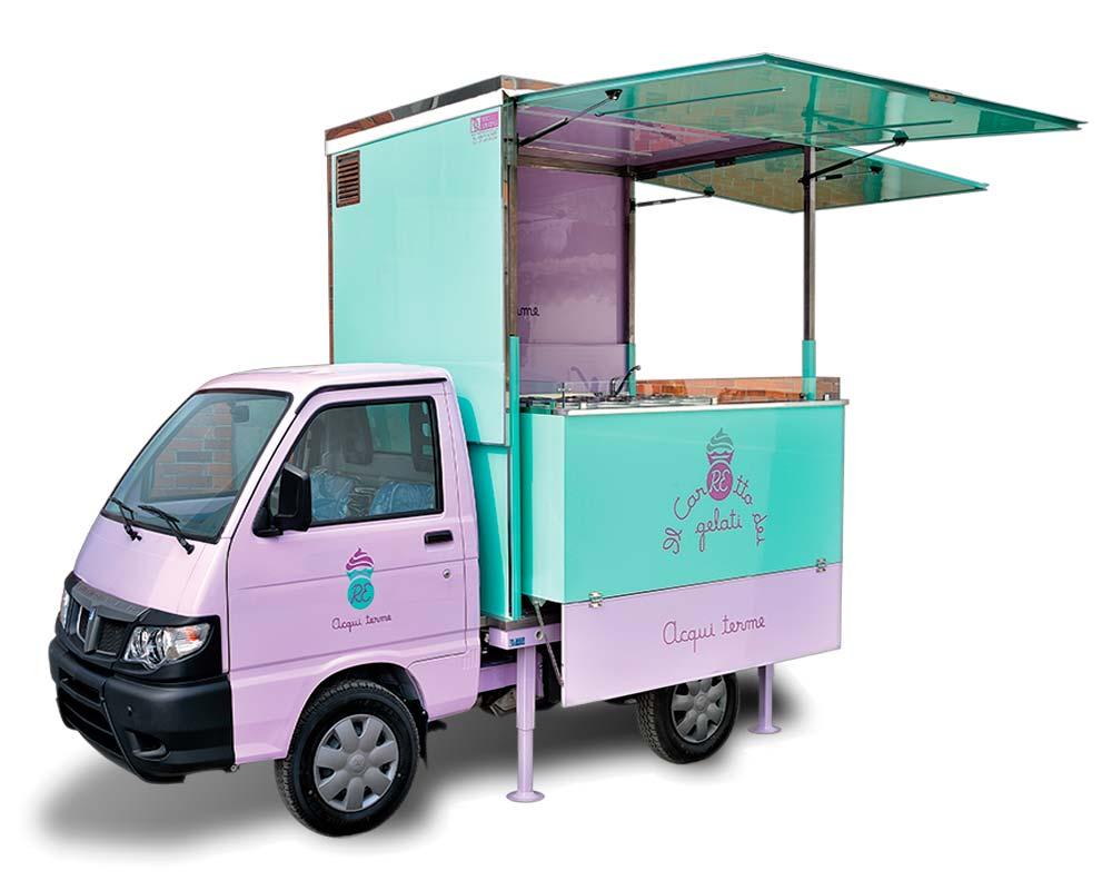 Porter Gelateria Piaggio Ape Food Truck il carretto dei gelati