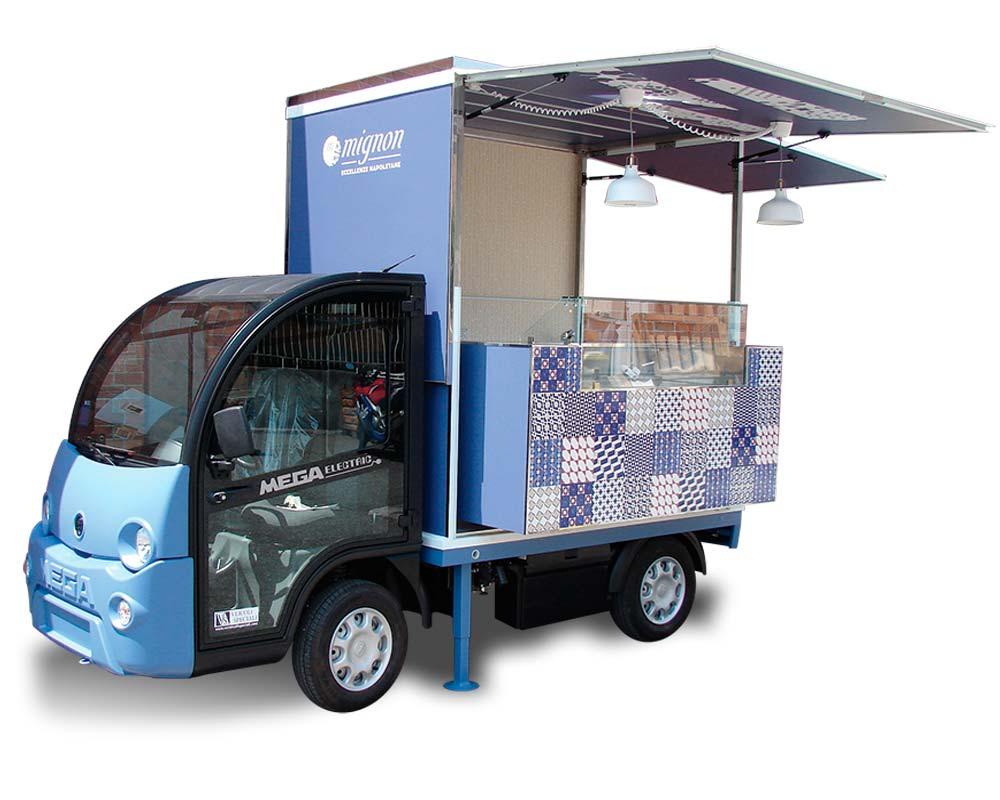 Veicolo elettrico per street food mega e-worker