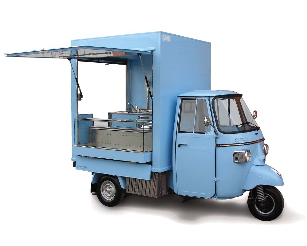 Piaggio Ape Bar for vending snacks and drinks at Geneve airport