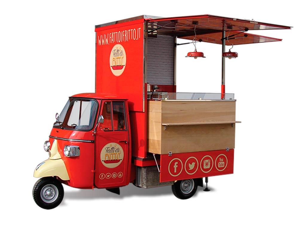 Piaggio fry food van designed for Fatti di Fritto