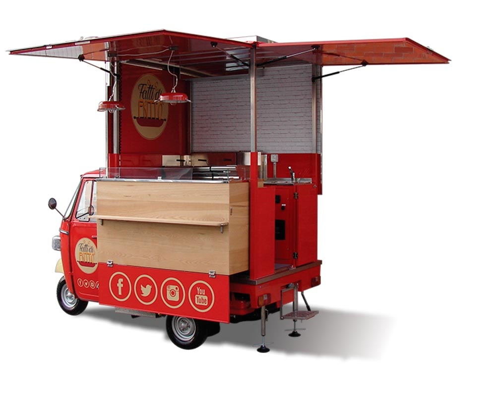 fry food truck specialised in fried chicken Fatti di Fritto