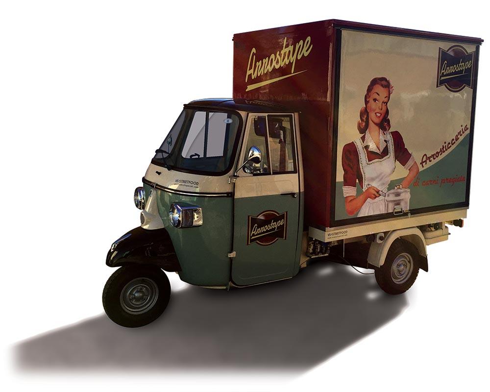 Food Van Piaggio for vending arrosticini skewers
