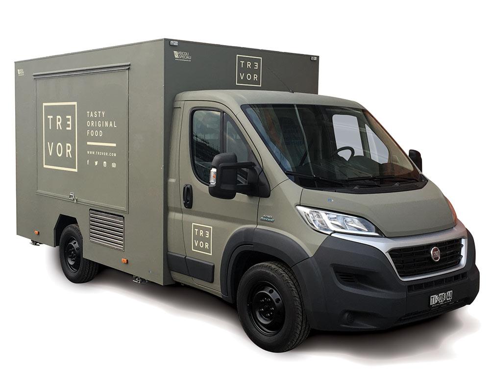 Camionnette Fiat Ducato Food Truck en Suisse Trevor