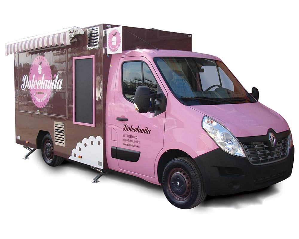 Renault Food Van for vending italian delicacies Dolcevita