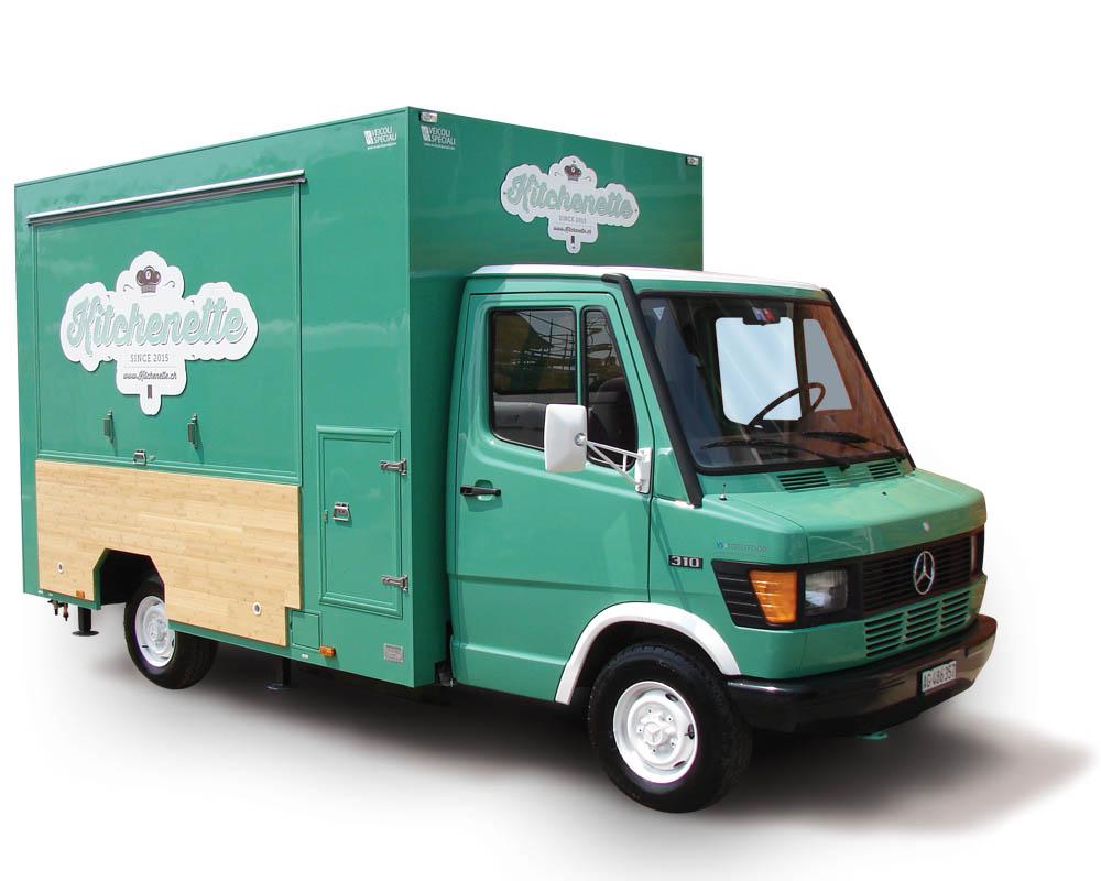 Food Truck Mercedes 310 Kitchenette en Zurich Suisse