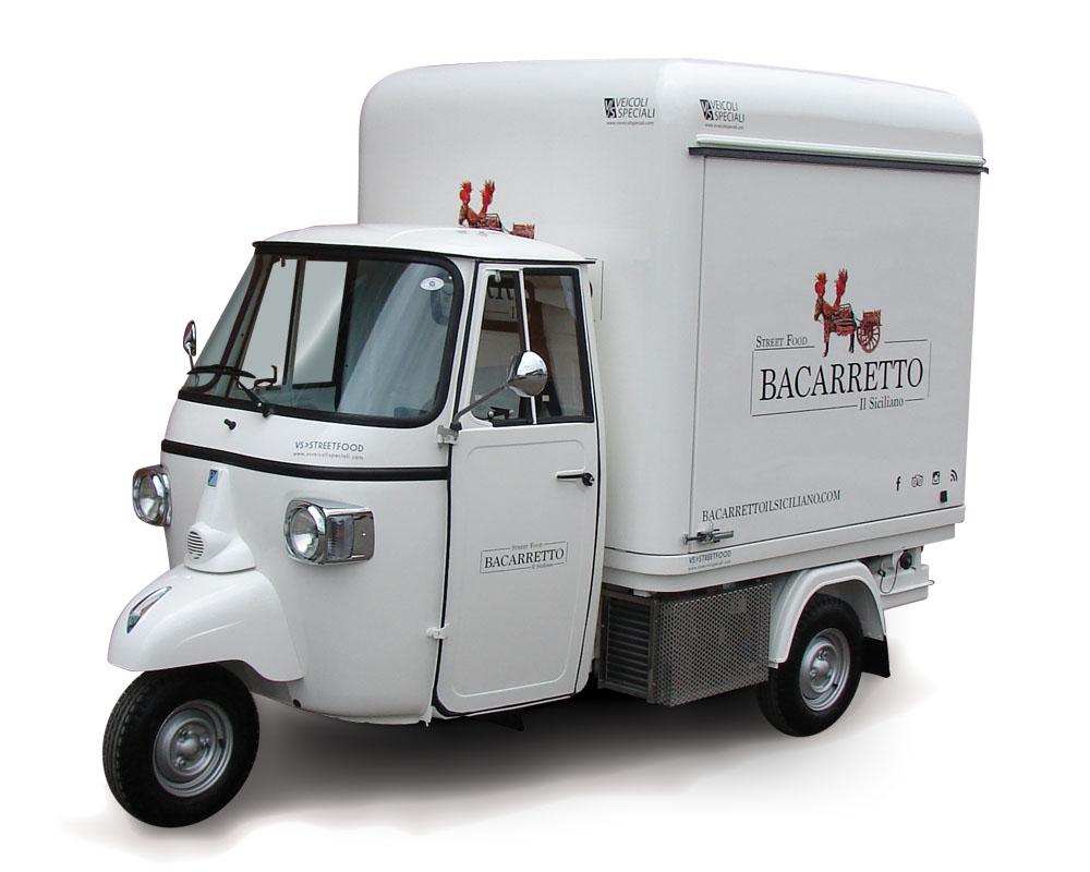 piaggio ape street food verkauf von sizilianischen. Black Bedroom Furniture Sets. Home Design Ideas