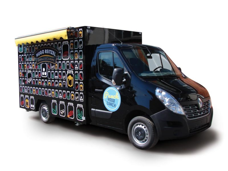 """Renault Master """"Hugo Reitzel"""" is a promo truck to promote food products"""