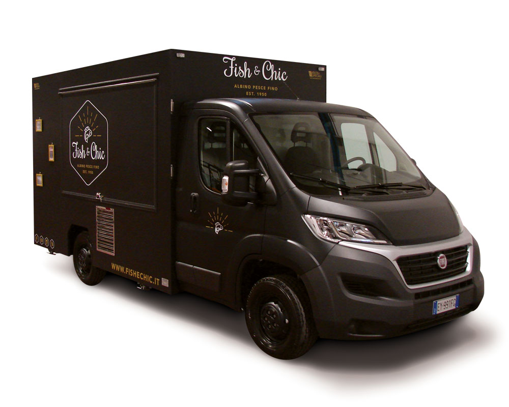 Fish & Chic is a food van built on Fiat Ducato