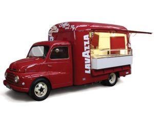 food truck nuovo vintage per azienda lavazza