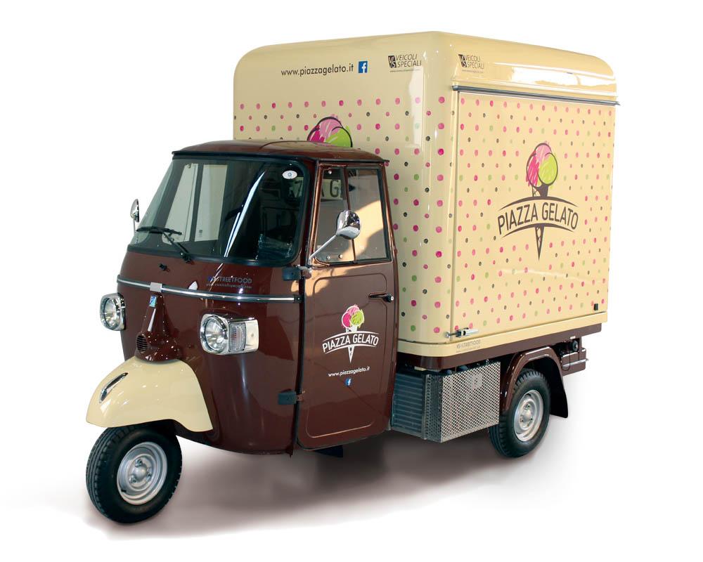 Italian gelati sold from a Piaggio Apecar