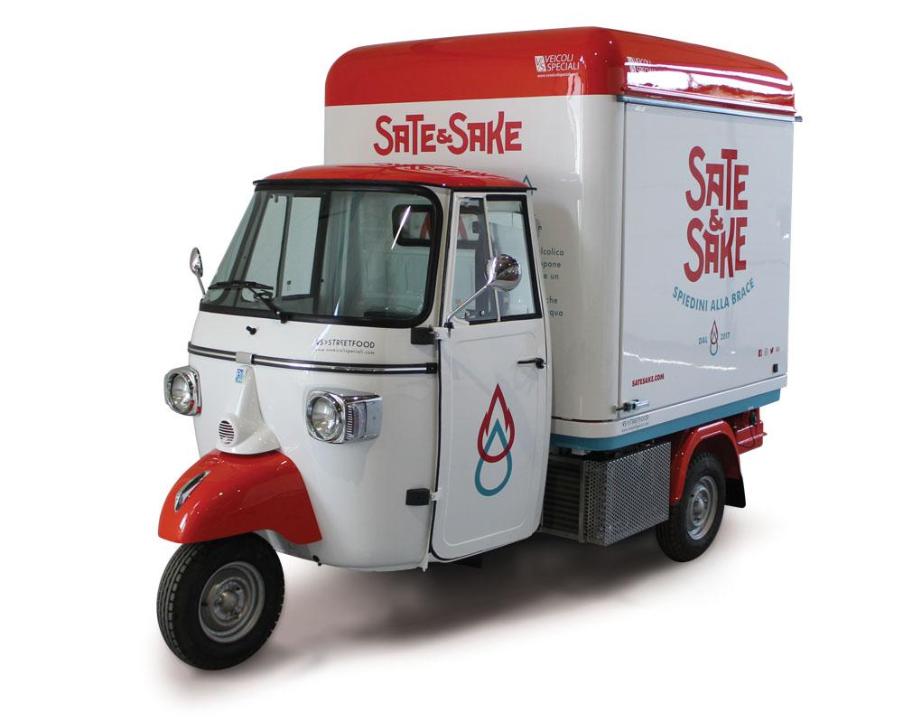 Sate & Sake Piaggio van