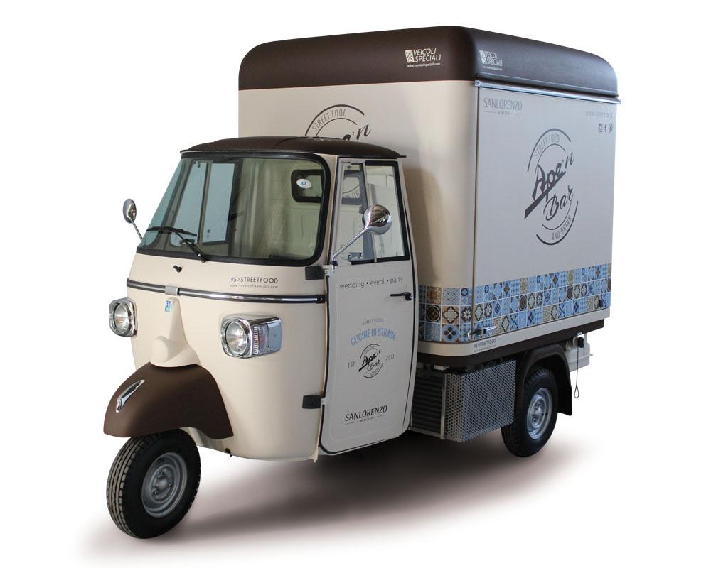 "Triporteur Ape Bar-Café | Food Truck Piaggio | ""Ape'n Bar"" (Sicile)"