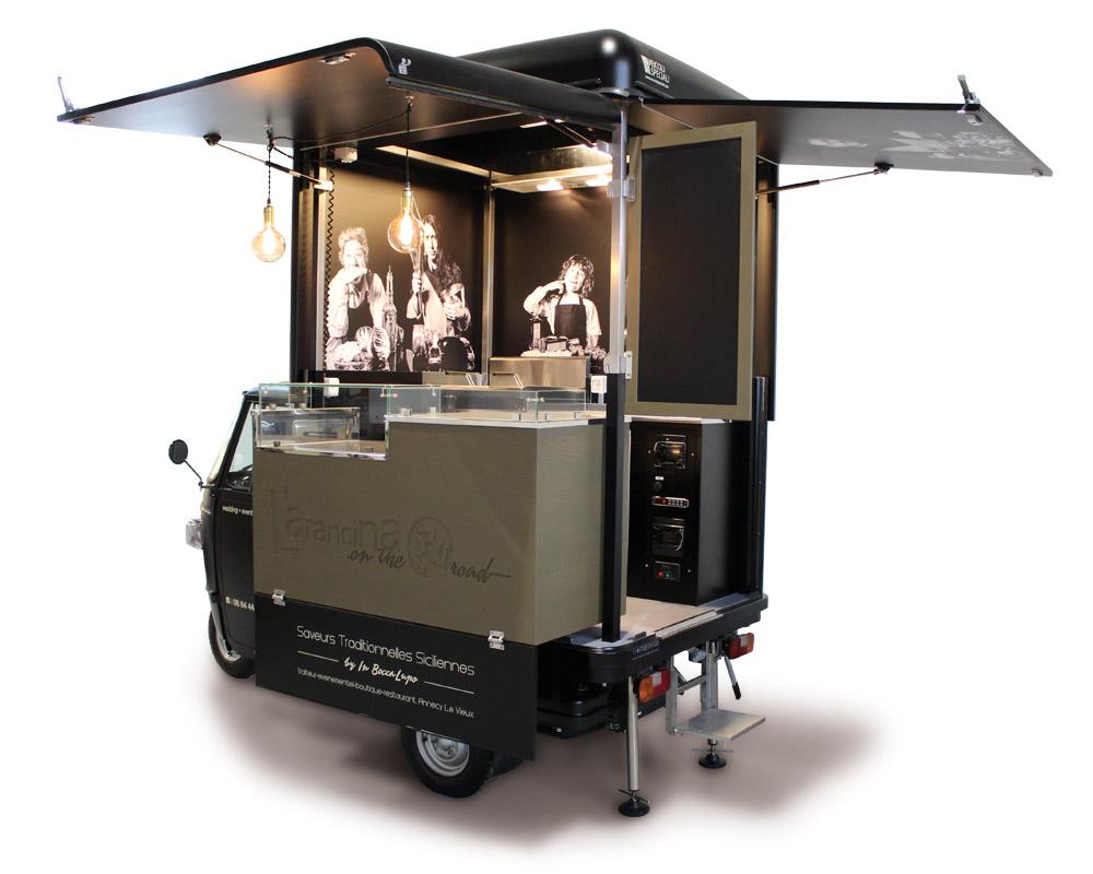 Food truck Piaggio to sell sicilian arancini in France