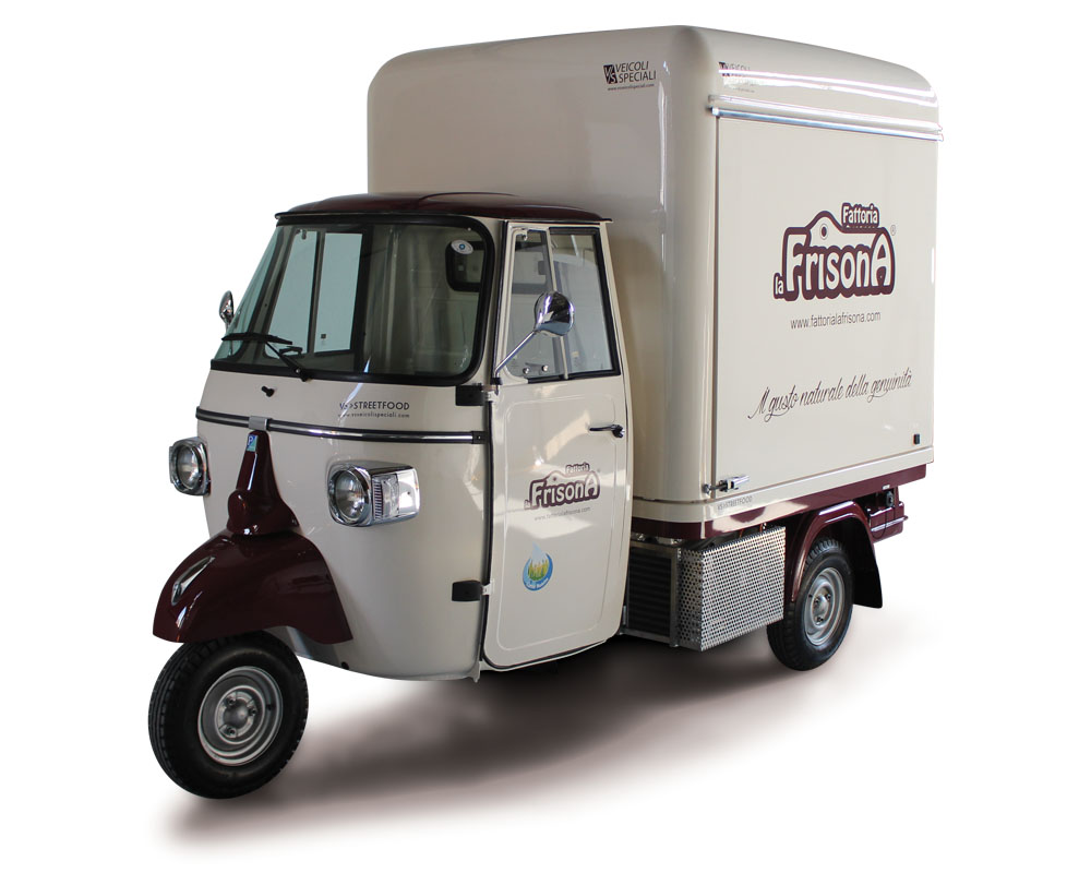 Piaggio truck for vending ice-cream made with pure Frisona milk