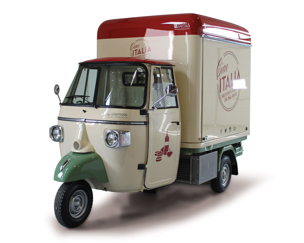 piaggio truck ciao italia for food service and catering